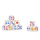 Dice 1.4x1.4 cm, transparent packing 100pcs