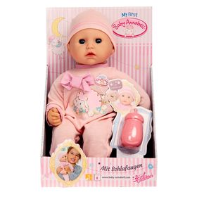 Baby Annabell doll with a bottle.