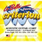 Струны для акустической гитары La Bella C500S Criterion, Light, 12-52