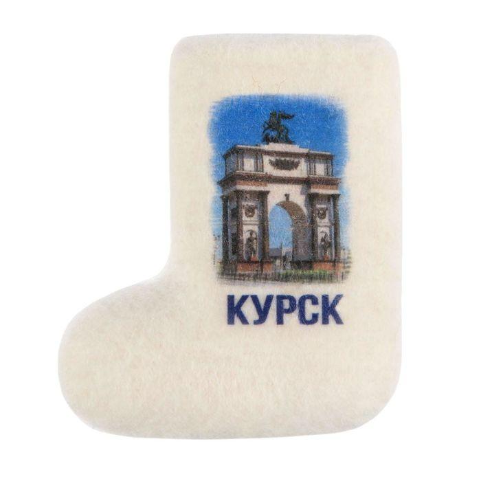 Магнит-валенок из войлока «Курск. Триумфальная арка», ручная работа