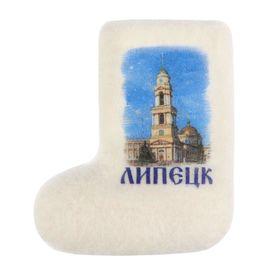 Магнит-валенок ручной работы «Липецк. Христорождественский собор»