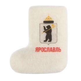 Магнит-валенок из войлока «Ярославль. Герб города», ручная работа