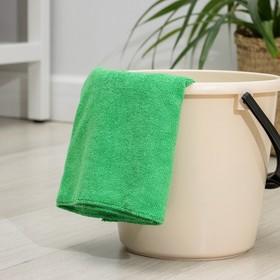 Салфетка из микрофибры 80×70 см, 250 г/м2, цвет зелёный - фото 7379839