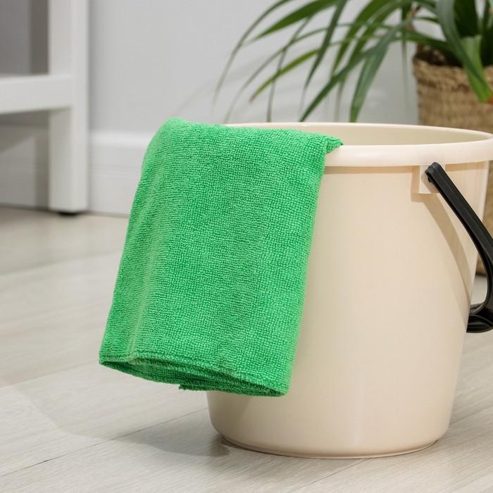 Салфетка из микрофибры 80×70 см, 250 г/м2, цвет зелёный