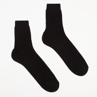 Носки мужские, размер 29, цвет чёрный