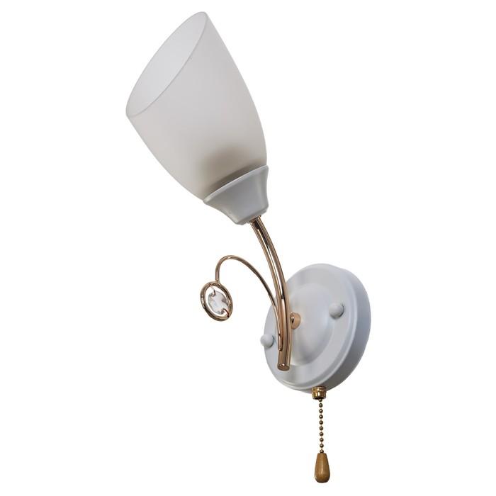 "Бра ""Нанси"" 1 лампа 60W E27 белый-золото 18х11х32,5 см"