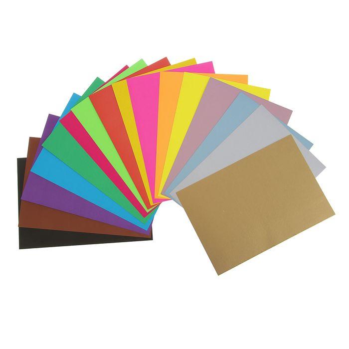 Картон цветной А4, 16 листов, 16 цветов: 4 металлизированных, 4 флюоресцентных Frozen, ВД-лак, МИКС - фото 369521106