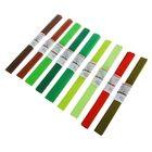 Набор бумаги крепированной 50x250см, 32 г/м², 20 штук, 10 цветов, спектр коричнево-зелёный, растяжение 55%