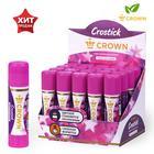 Клей-карандаш Magic 15 г Crown с цветным индикатором