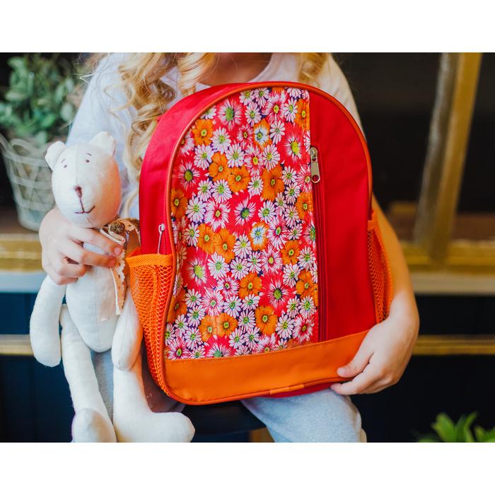 Рюкзак детский, отдел на молнии, наружный карман, цвет красный