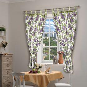 Штора для кухни с подхватом 180 х140 см 'Виноград', цвет фиолетовый Ош