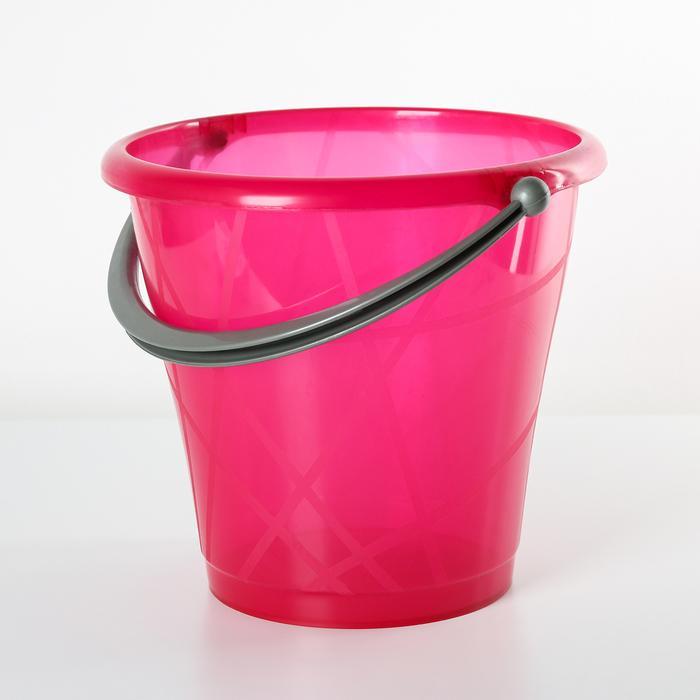Ведро прозрачное пищевое, 9 л, цвет МИКС