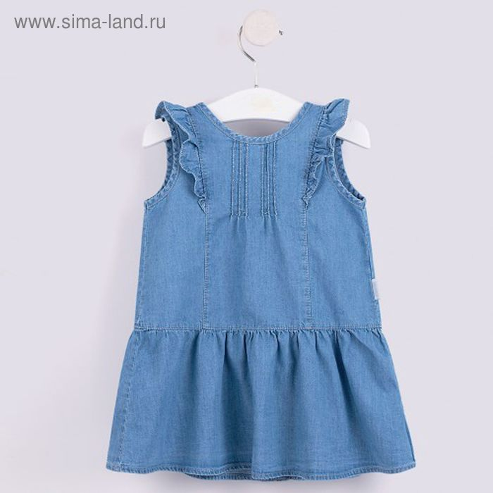 Платье для девочки, рост 80 см, цвет синий ПЛ171_М