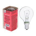 Лампа накаливания ДШ, 40 Вт, E14, 230 В, КЭЛЗ