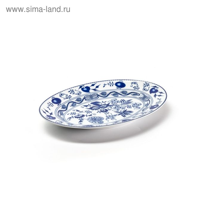 Блюдо овальное маленькое, декор: Ognion bleu, 23 см