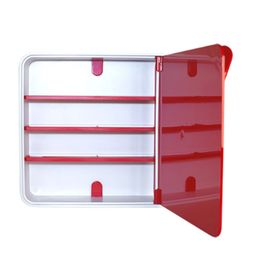 Ящик для лекарств, цвет дверцы красный