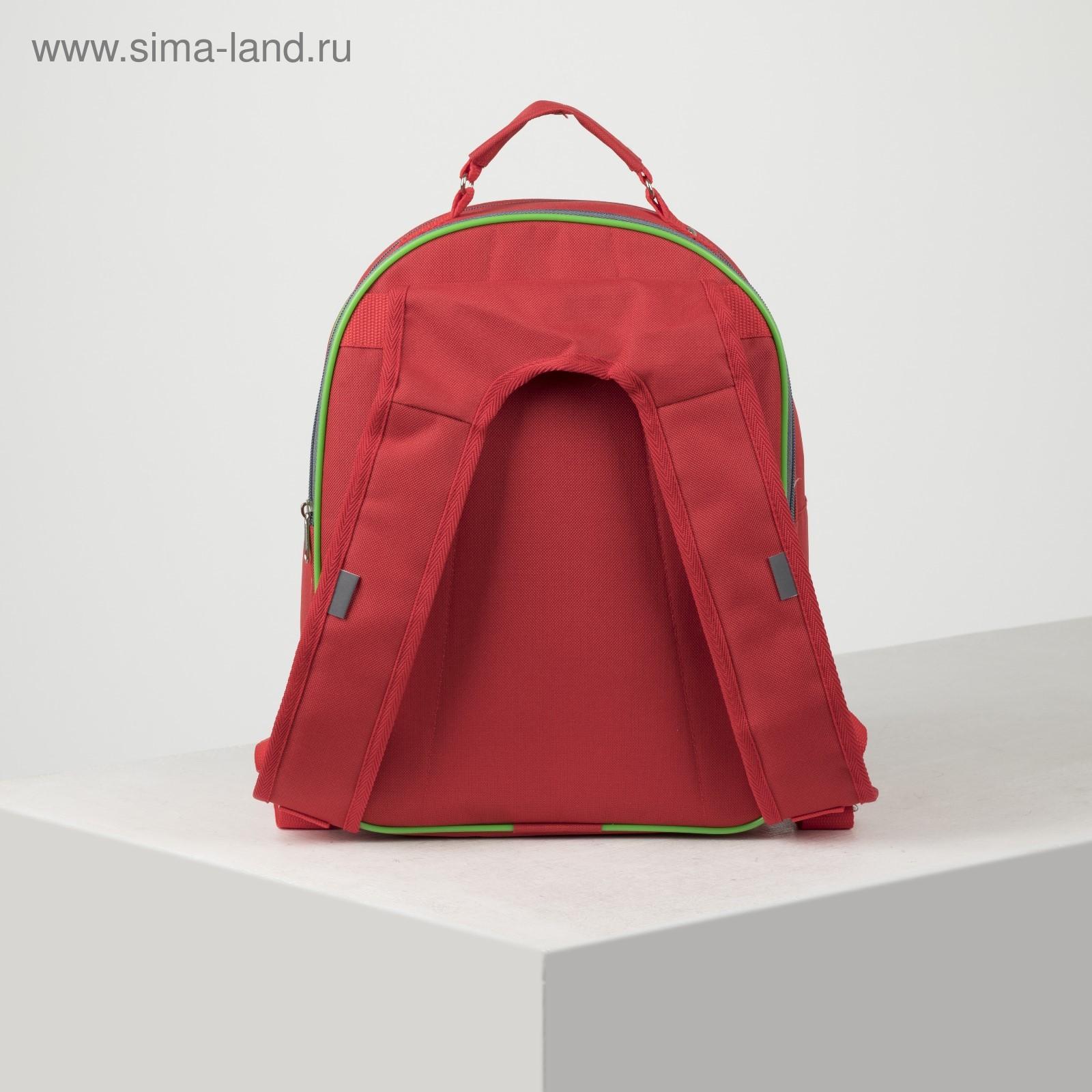 9d52f10187a6 Рюкзак школьный на молнии, 2 отдела, 2 наружных кармана, цвет серый/красный