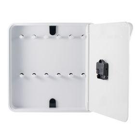 Ящик для ключей с часами, цвет белый