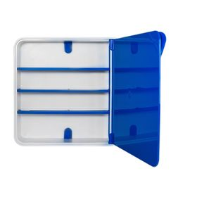 Ящик для лекарств, цвет дверцы синий