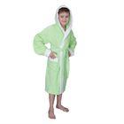 Халат махровый для мальчика капюшон + комби/белый, цв. салатовый, рост 92, хл100%