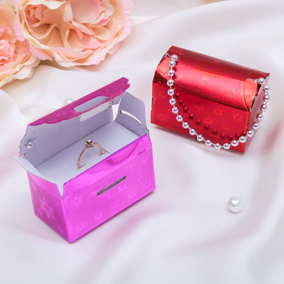 Подарочная коробочка под кольцо/серьги «Сумочка-подарочек», 7 х 4 х 5 см, цвет МИКС