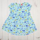 Платье для девочки, рост 80 см, цвет бирюзовый CSB 61550  (144)_М