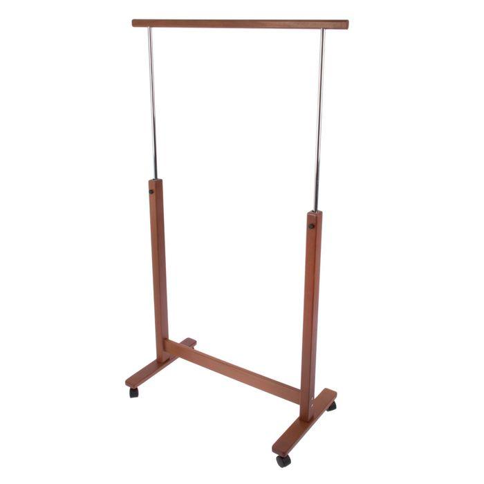 Вешалка гардеробная на колесиках R.Atlant 179х90х42 см, темный бук