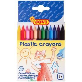 Карандаши пластиковые 12 цветов JOVI, шестигранные