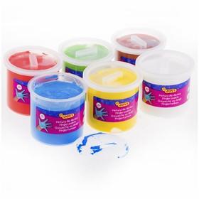 Краски пальчиковые, набор 6 цветов х 125 мл, JOVI, для малышей