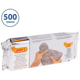 Масса для лепки самозатвердевающая полимерная серая 500 г, JOVI