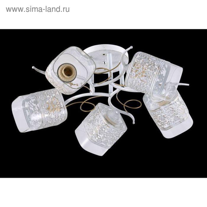 """Люстра """"Силия"""" 5 ламп 60Вт Е27 белый"""