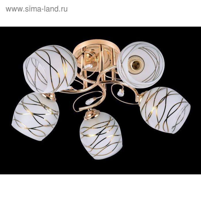 """Люстра """"Люмен"""" 5 ламп 60Вт Е27 золото"""