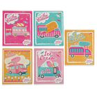 Тетрадь 48 листов клетка Ice Cream, обложка мелованный картон, выборочный УФ-лак, МИКС