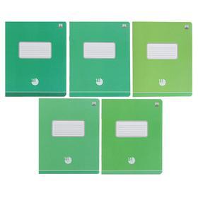 Тетрадь 18 листов в клетку «Оттенки зеленого», бумажная обложка, МИКС