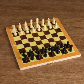"Игра настольная ""Шахматы"" доска дерево 29х29 см,  микс"