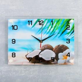Часы настенные, серия: Море, «Кокосы», 25×35 см микс