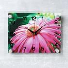 "Часы настенные, серия: Цветы, ""Розовая гербера"", 20х26 см"