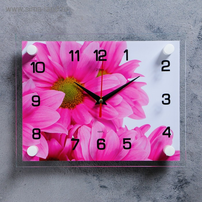 "Часы настенные, серия: Цветы, ""Цветок"", 20х26  см, микс"