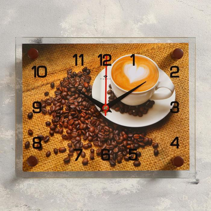 """Часы настенные, серия: Кухня, """"Кофе"""", 20х26  см, микс"""