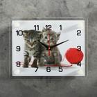 """Часы настенные прямоугольные """"Котята с клубком"""", 20х26 см  микс"""