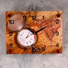 """Часы настенные, серия: Интерьер, """"Карта"""", 20х26 см в Донецке"""