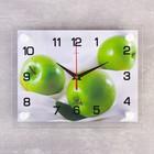 """Часы настенные прямоугольные """"Яблоки"""", 20х26 см"""