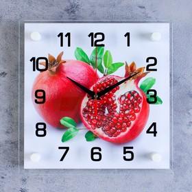 """Часы настенные, серия: Кухня, """"Гранат"""", 25х25 см, микс"""