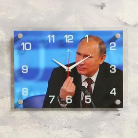 Часы настенные прямоугольные 'В.В. Путин', 25х35 см микс Ош