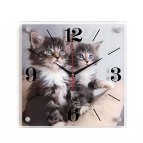 """Часы настенные, серия: Животный мир, """"Котята"""", 35х35  см, микс"""