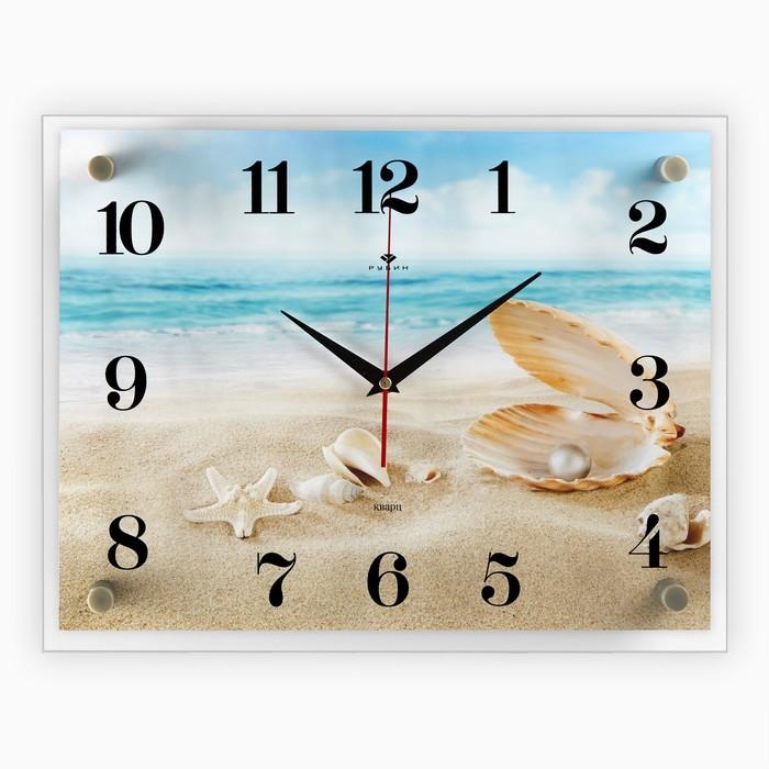 """Часы настенные, серия: Море, """"Ракушки на песке"""", 30х40 см"""