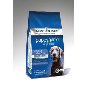 Сухой корм Arden Grange для щенков и молодых собак крупных пород, 12 кг.