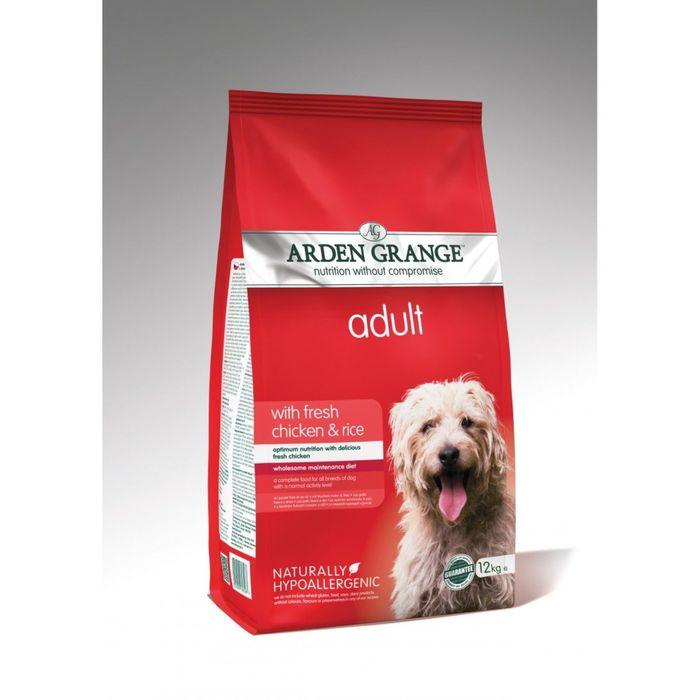 Сухой корм Arden Grange  для взрослых собак, с курицей и рисом, 12 кг.