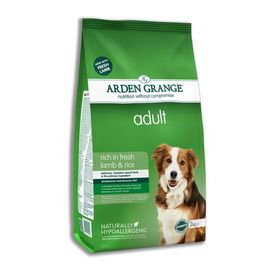 Сухой корм Arden Grange для взрослых собак, ягненок/рис, 12 кг.