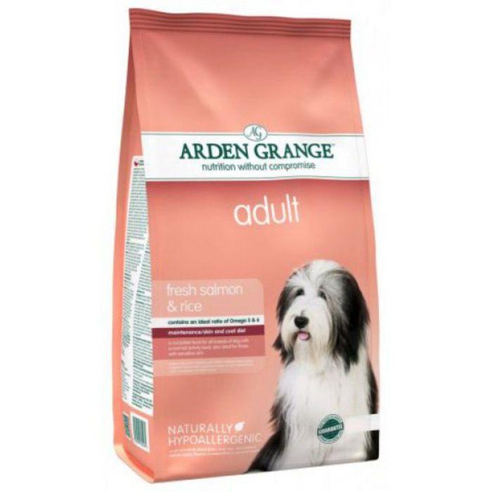 Сухой корм Arden Grange  для взрослых собак, с лососем и рисом, 12 кг.